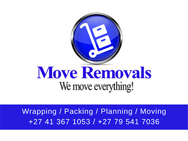 Move Removals  - Move Removals Logistics will move you safely from A to B. We provide residential and commercial moving services both domestic and nationally across the entire South Africa. We'll move you fast - at a very affordable rate.